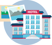 illustration of hotel
